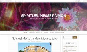Hjemmeside til Spirituel Messe på Møn